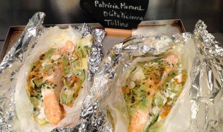 Papillotes de saumon Ravioles light de Patricia Morard
