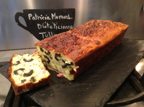 Cakes léger courgettes olives bacon Patricia Morard diet Tullins