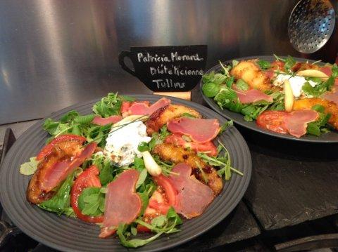 Salade de melon rôti et Lomo Patricia Morard