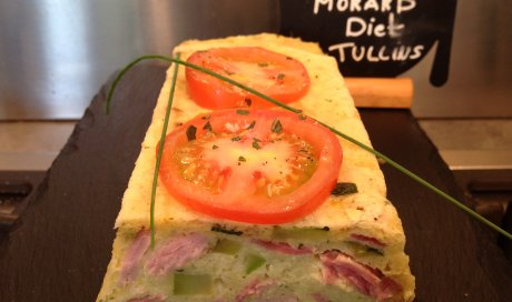 cake express courgettes et jambon