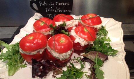 Tomates farcies thon et fromage frais de Patricia Morard